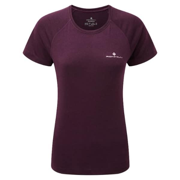 T-skjorte Dame  – Ronhill Momentum – Aubergine