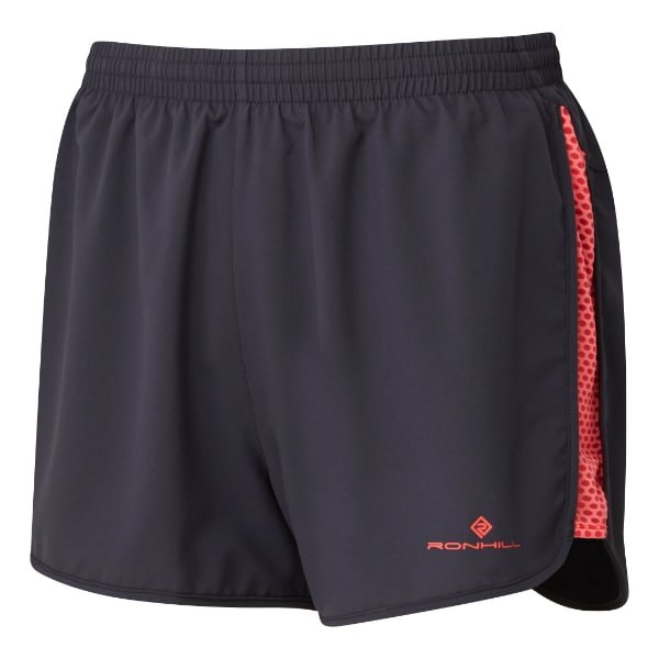 Løpeshorts Dame – Ronhill Momentum Glide – Charcoal/Hot Pink